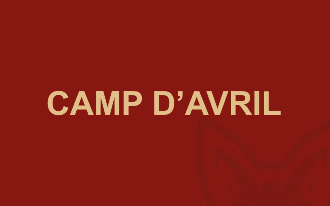 Camp d'avril